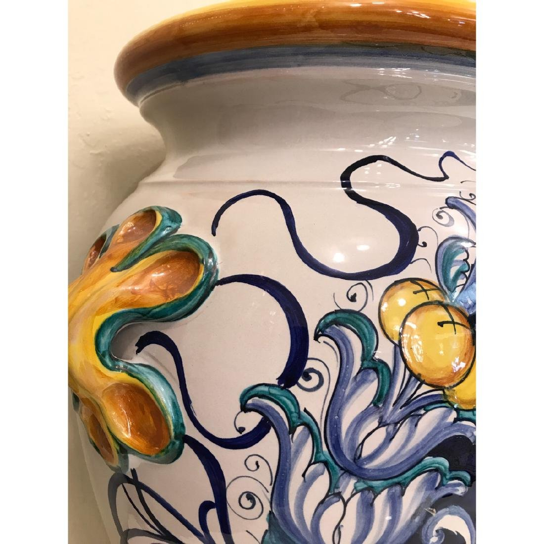 Pair of Magnificnet Hand-Painted Vases - 5
