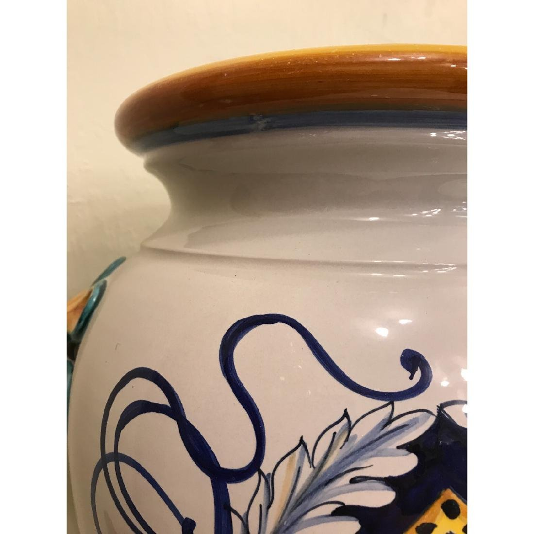 Pair of Magnificnet Hand-Painted Vases - 7
