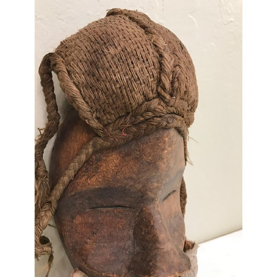Rare Wooden African Mask with Bells - 2