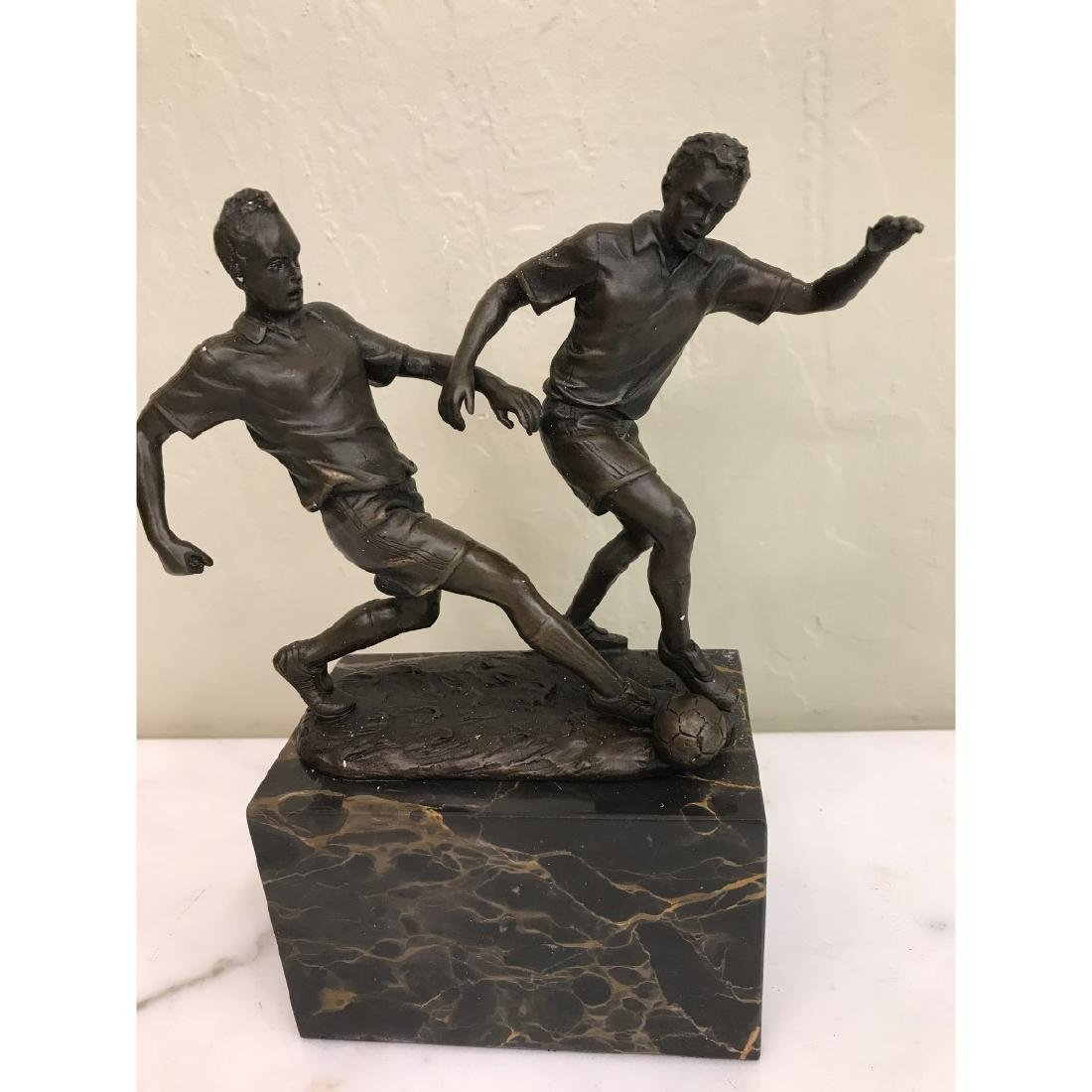 Bronze Statue of Two Soccer Players by Milo