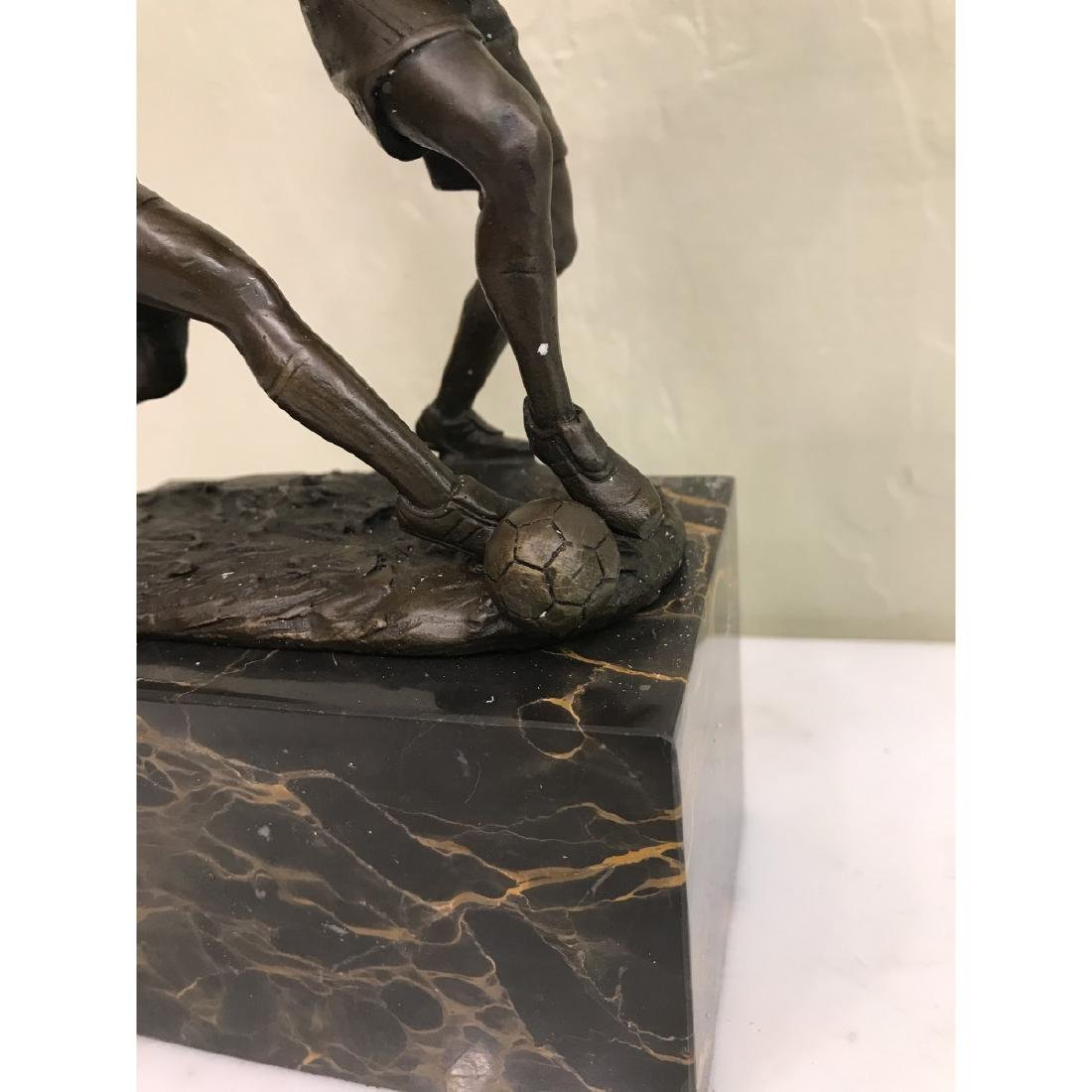 Bronze Statue of Two Soccer Players by Milo - 3