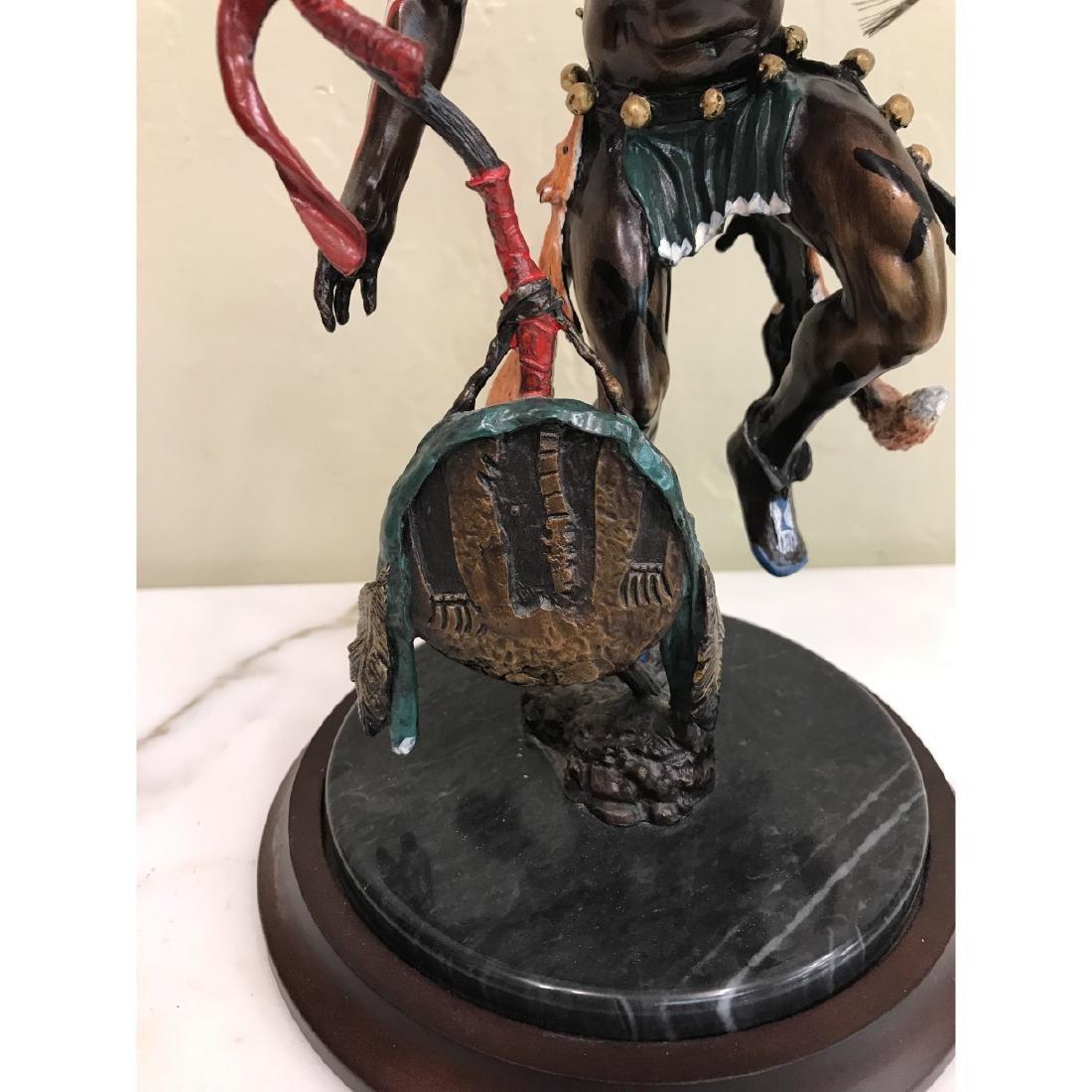 """Spirit of the Fox"" Bronze Native American Statue - 3"