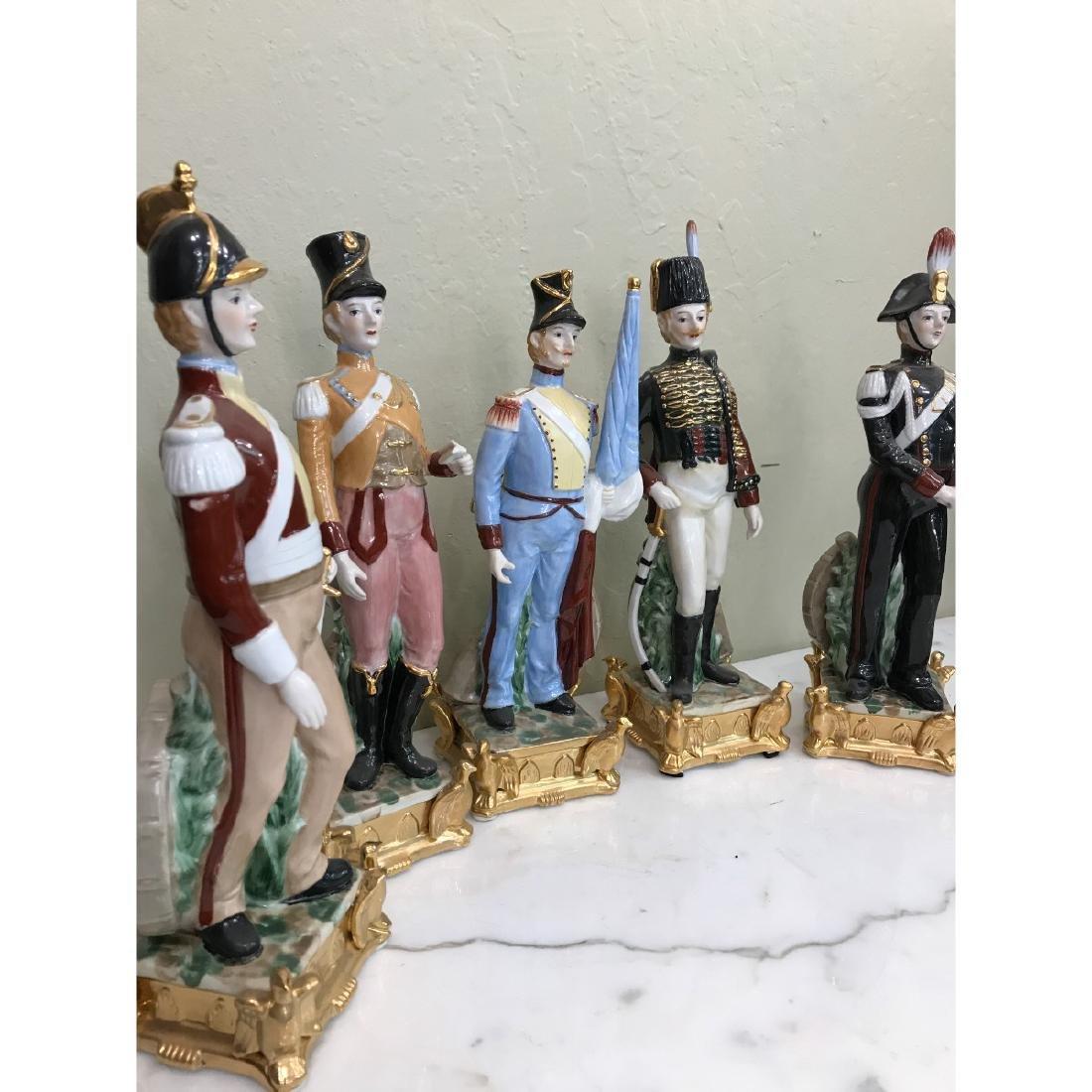 Set of 5 Porcelain Soldier Statues - 2