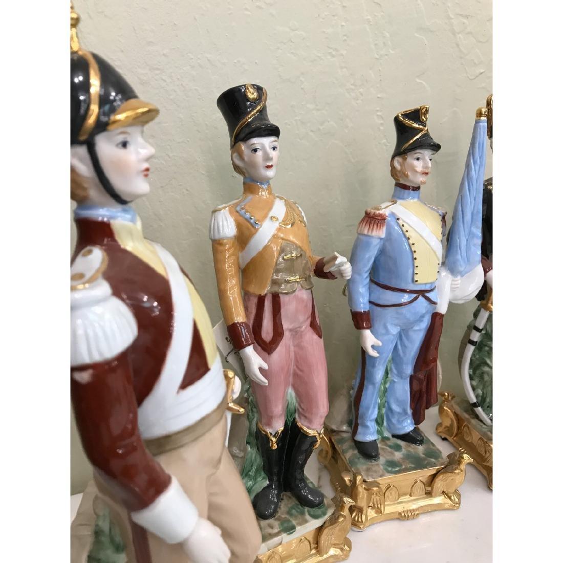 Set of 5 Porcelain Soldier Statues - 3
