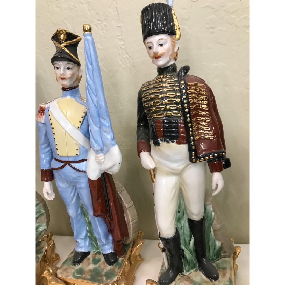 Set of 5 Porcelain Soldier Statues - 4
