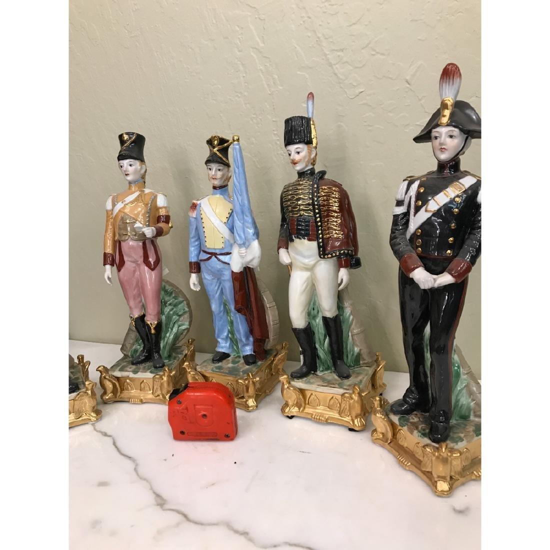 Set of 5 Porcelain Soldier Statues - 5