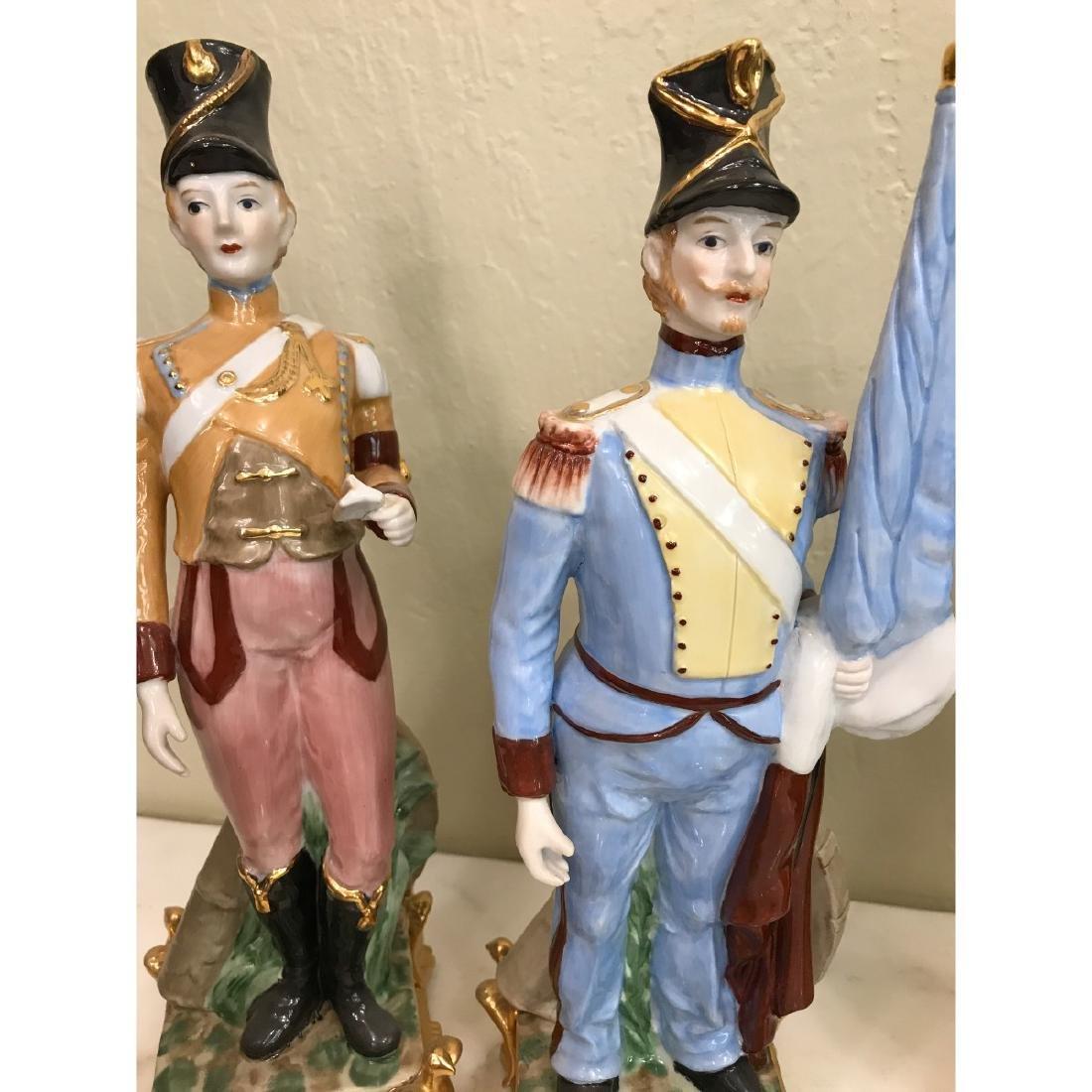 Set of 5 Porcelain Soldier Statues - 9