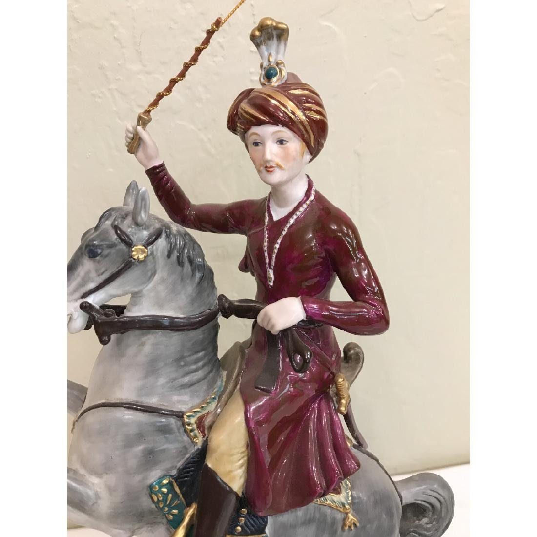 Porcelain Statue of Soldier on Horse - 2
