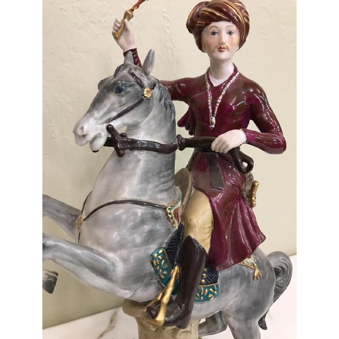 Porcelain Statue of Soldier on Horse - 4