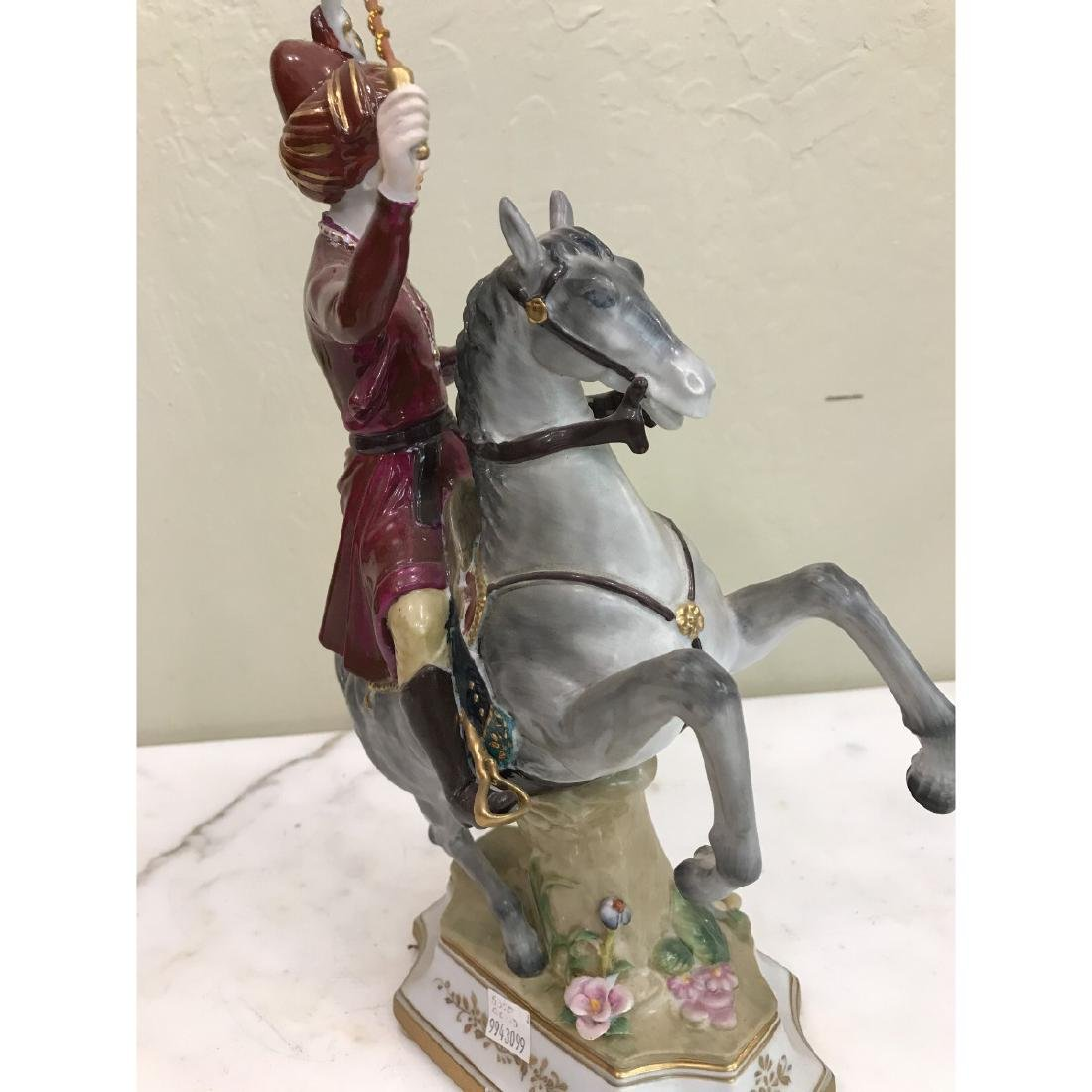Porcelain Statue of Soldier on Horse - 5