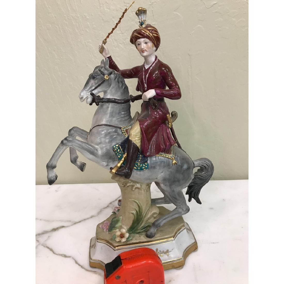 Porcelain Statue of Soldier on Horse - 6