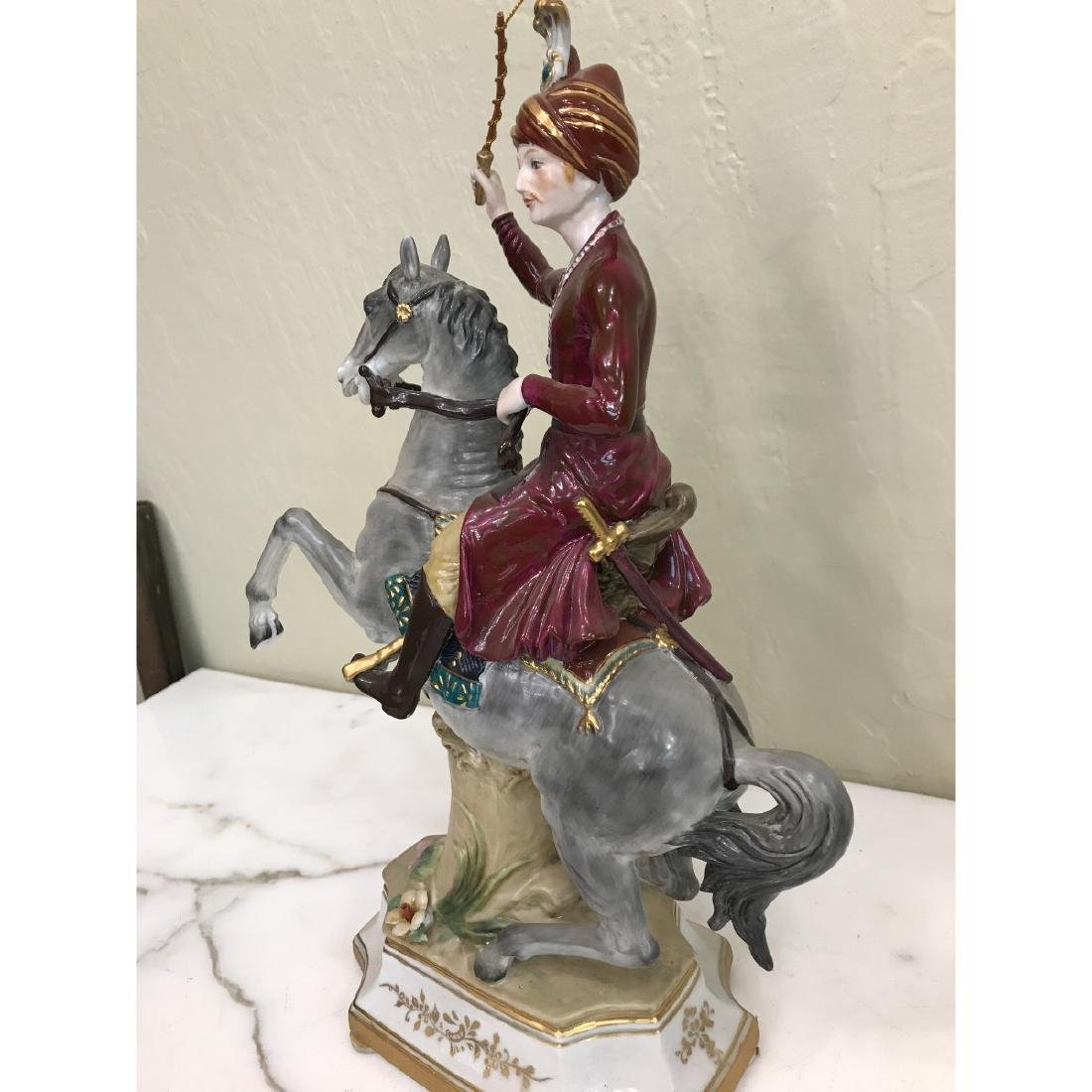Porcelain Statue of Soldier on Horse - 7