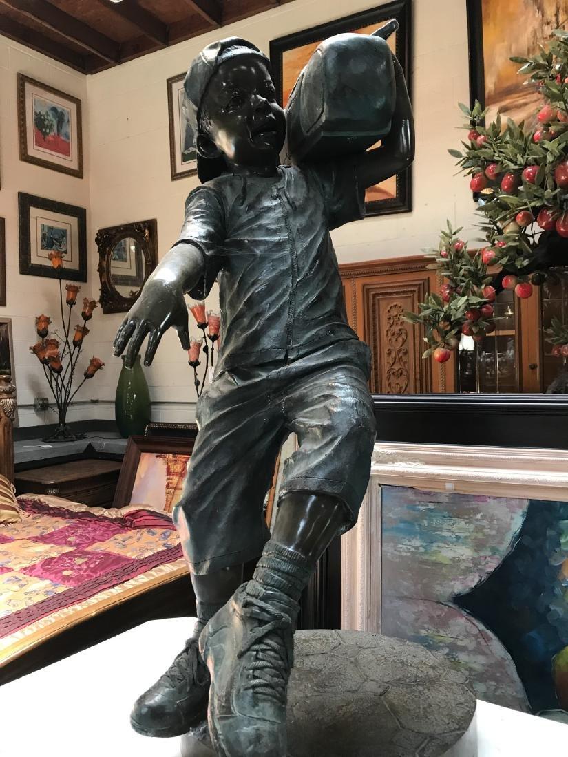 Boy w/ Boombox Bronze Statue by Jim Davidson