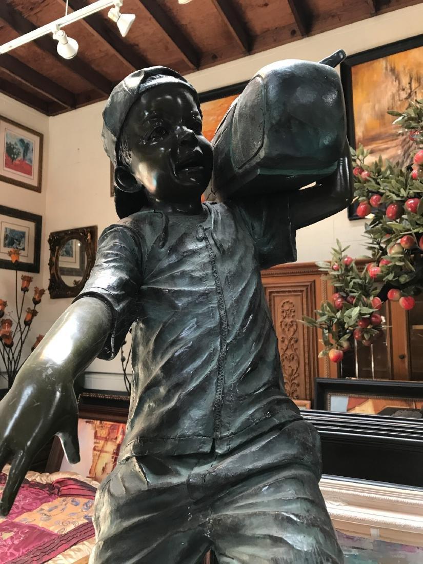 Boy w/ Boombox Bronze Statue by Jim Davidson - 2