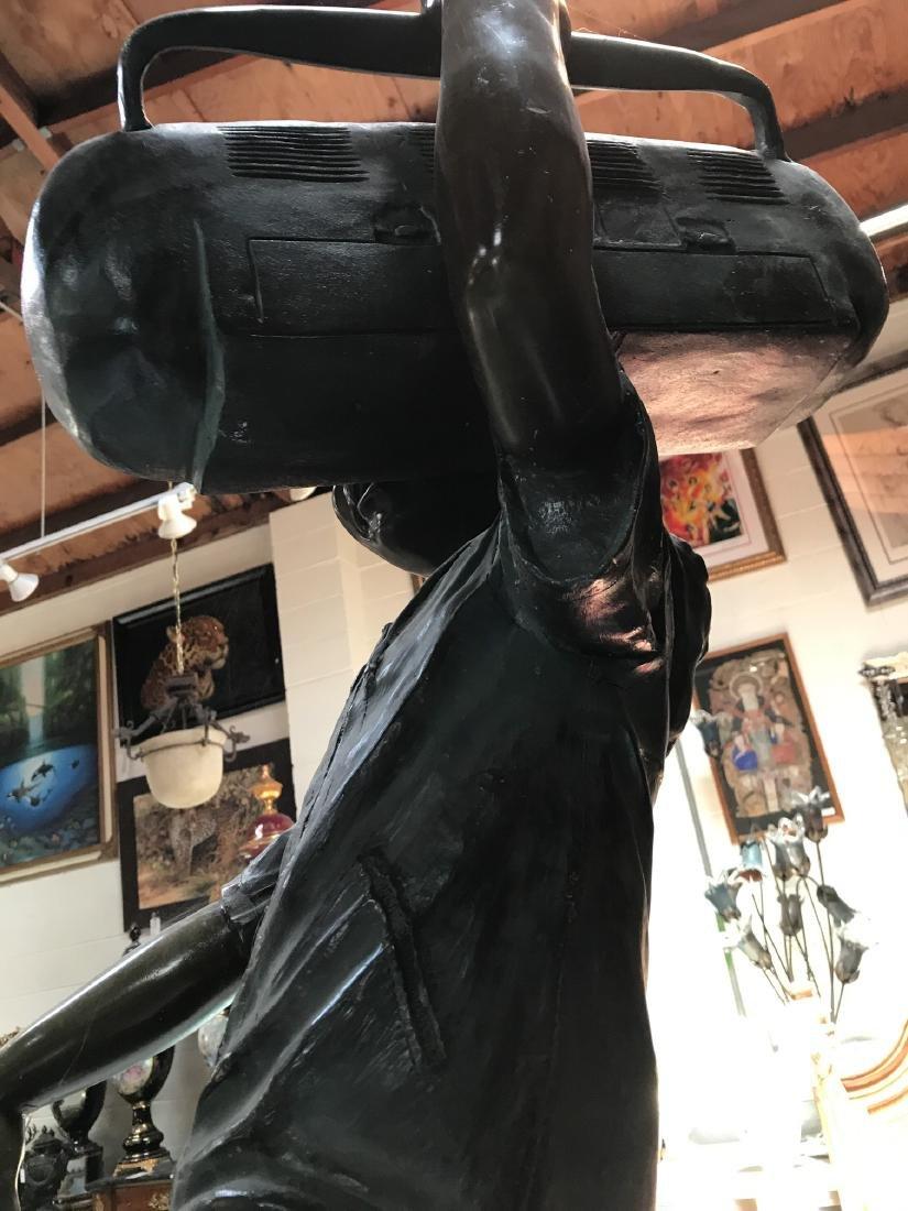 Boy w/ Boombox Bronze Statue by Jim Davidson - 4