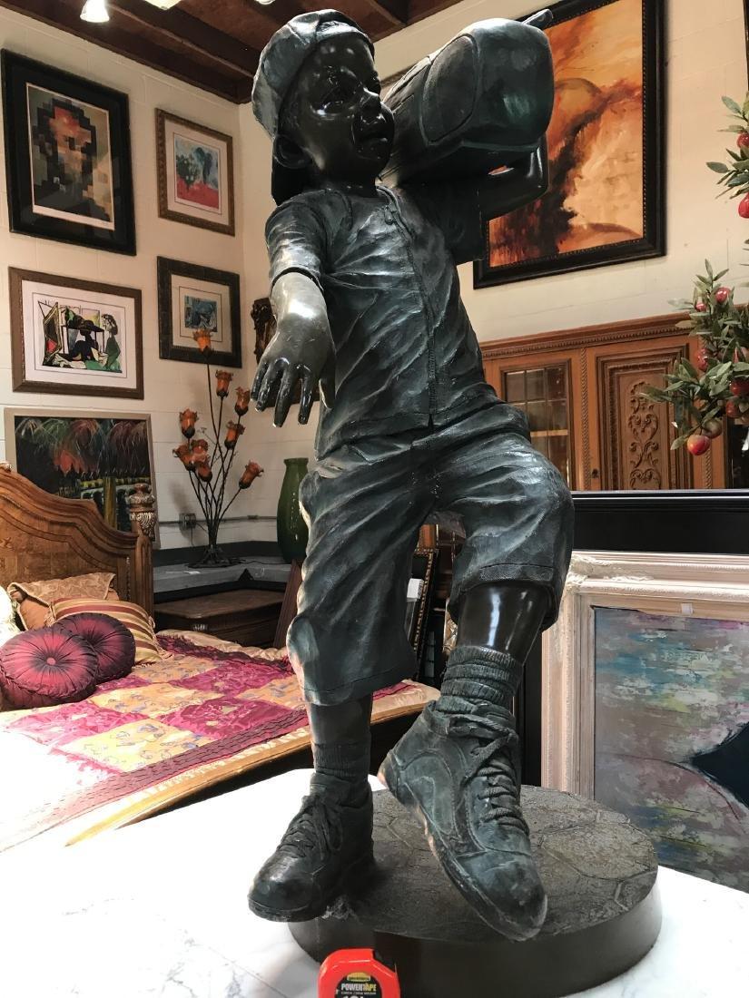 Boy w/ Boombox Bronze Statue by Jim Davidson - 8