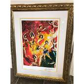 Triumph of Music Print by Marc Chagall
