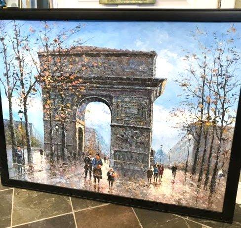 Oil on Canvas- Depicting Paris Street