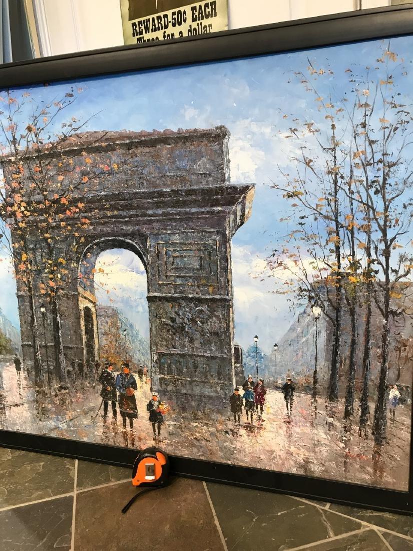 Oil on Canvas- Depicting Paris Street - 2