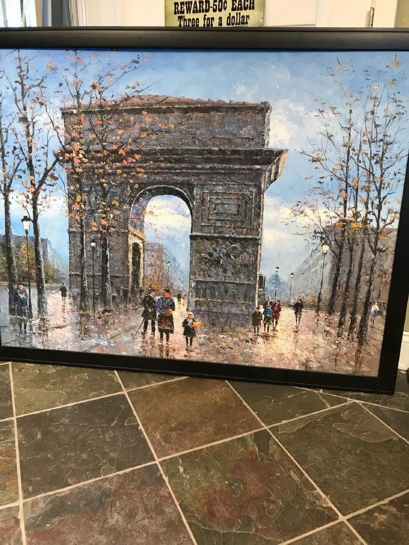 Oil on Canvas- Depicting Paris Street - 3