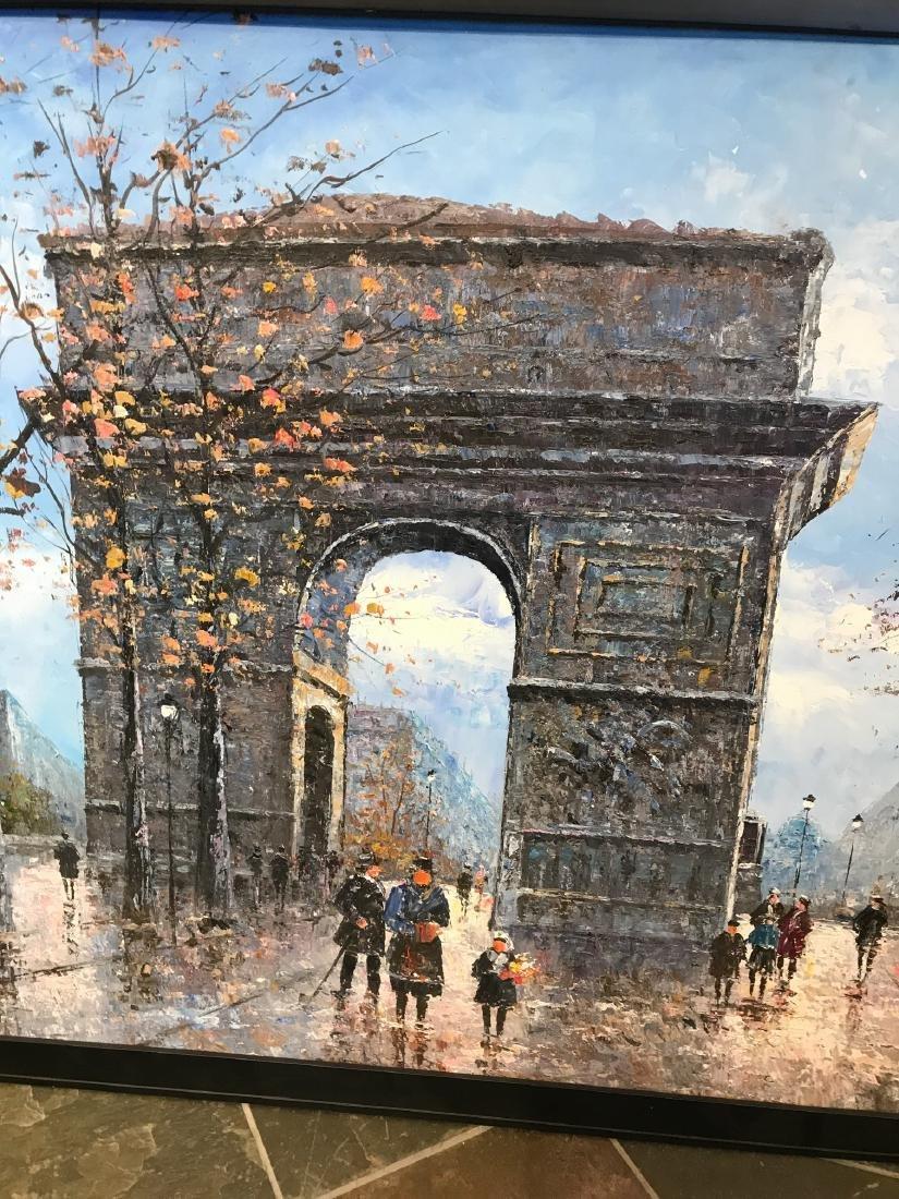 Oil on Canvas- Depicting Paris Street - 4