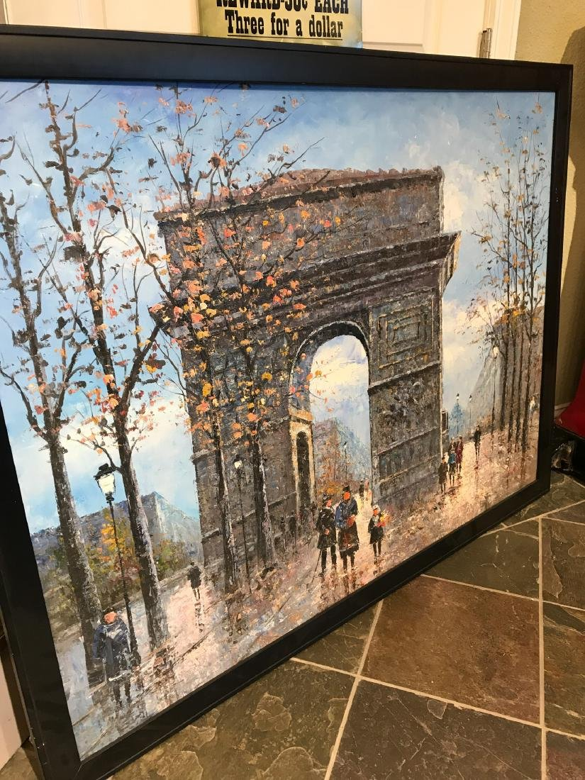Oil on Canvas- Depicting Paris Street - 5