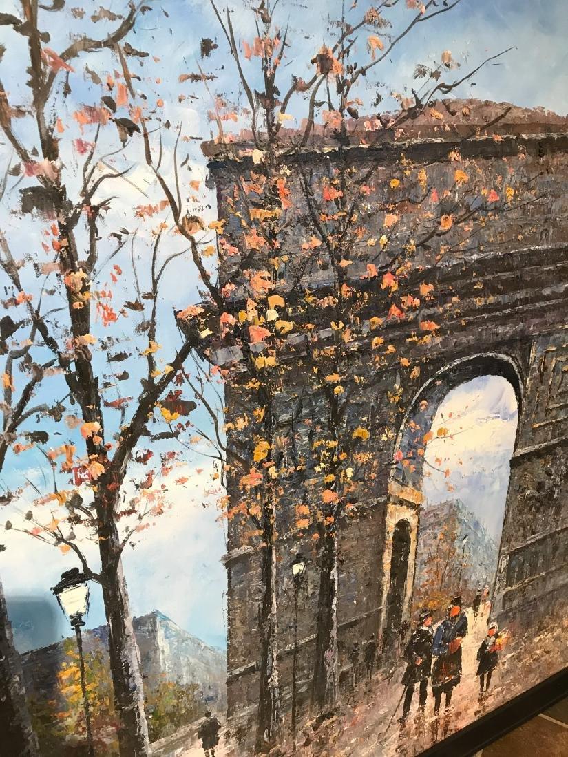 Oil on Canvas- Depicting Paris Street - 6