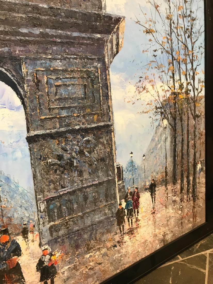 Oil on Canvas- Depicting Paris Street - 7