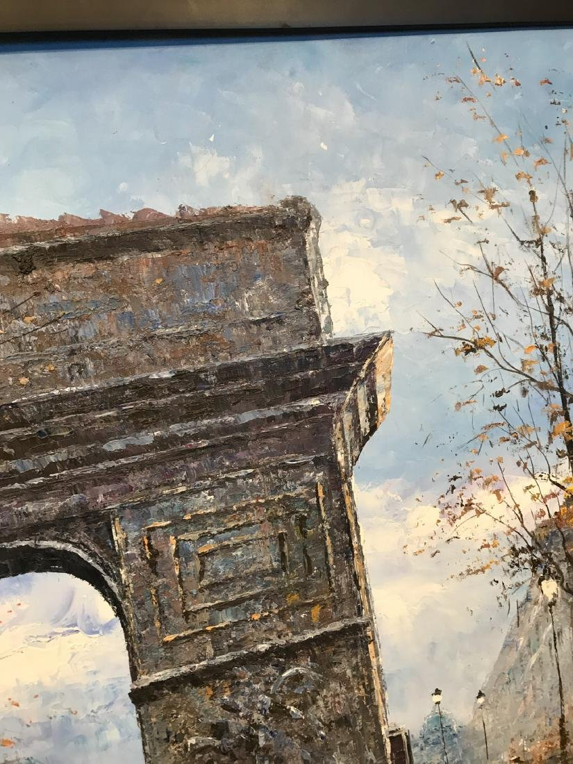 Oil on Canvas- Depicting Paris Street - 8