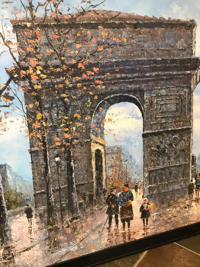 Oil on Canvas- Depicting Paris Street - 9