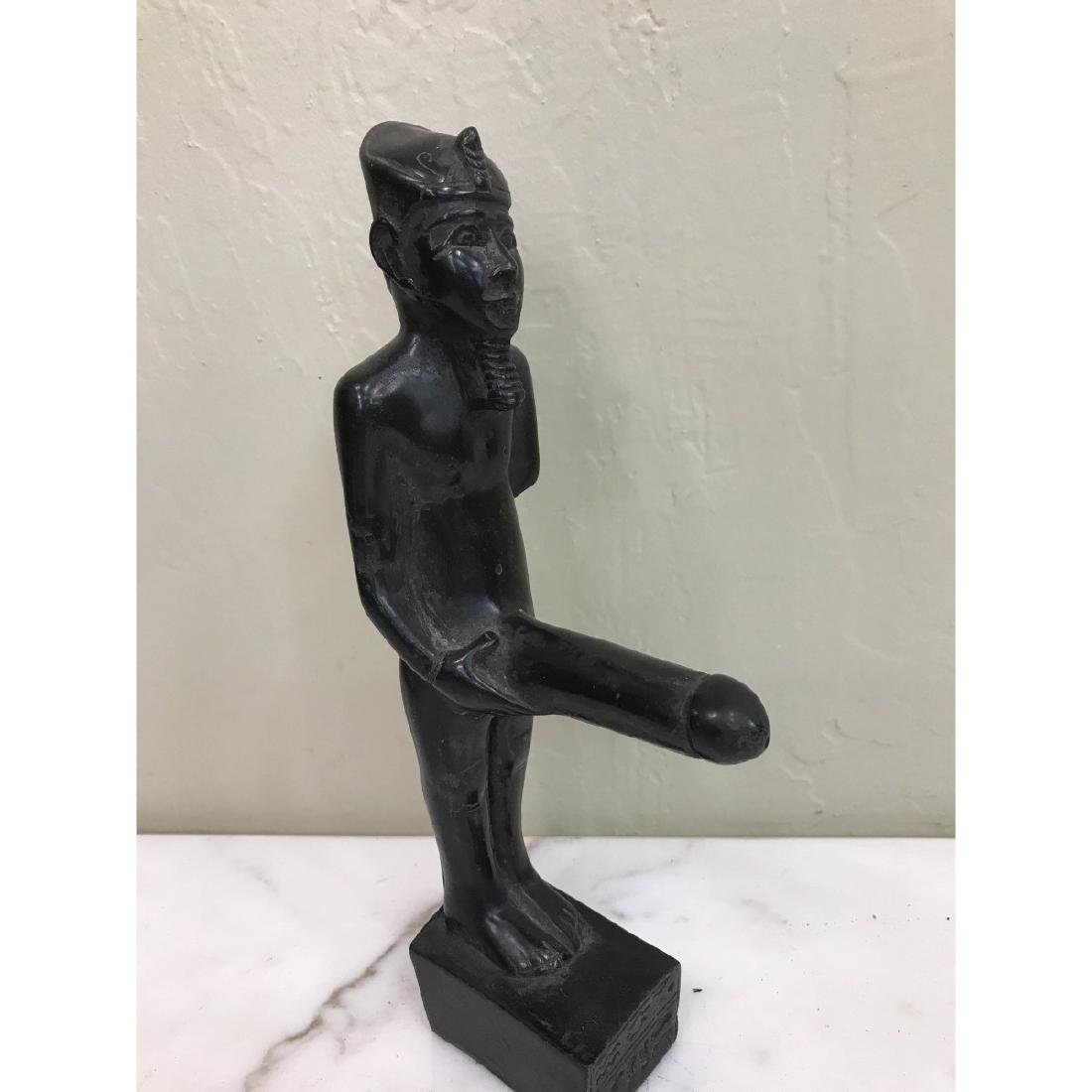 Erotic Carved Wood Statue of Egyptian Man - 3