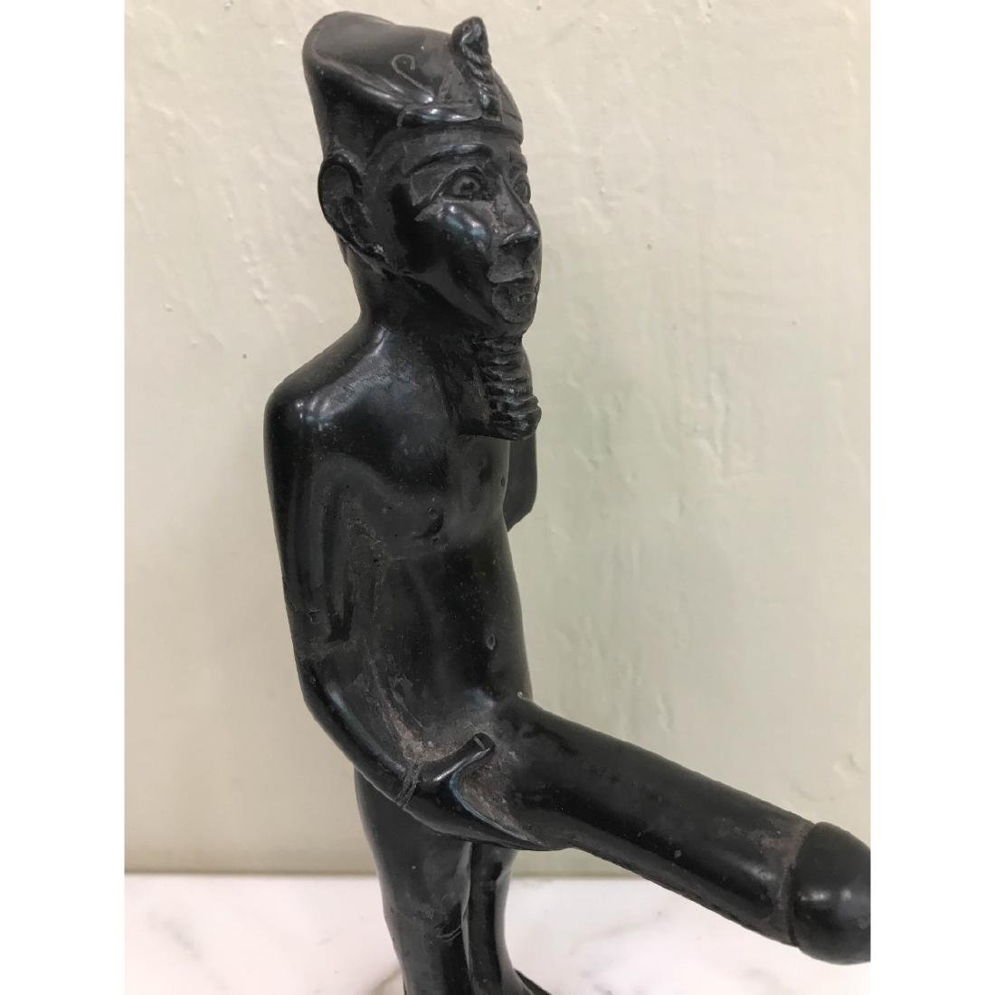 Erotic Carved Wood Statue of Egyptian Man - 4
