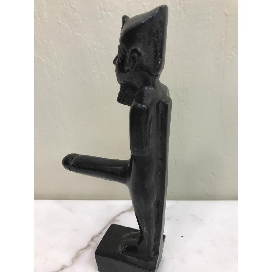 Erotic Carved Wood Statue of Egyptian Man - 7
