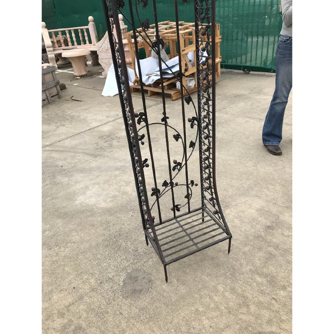 Wrought Iron Garden Arbor/Arch with Red Flowers - 9