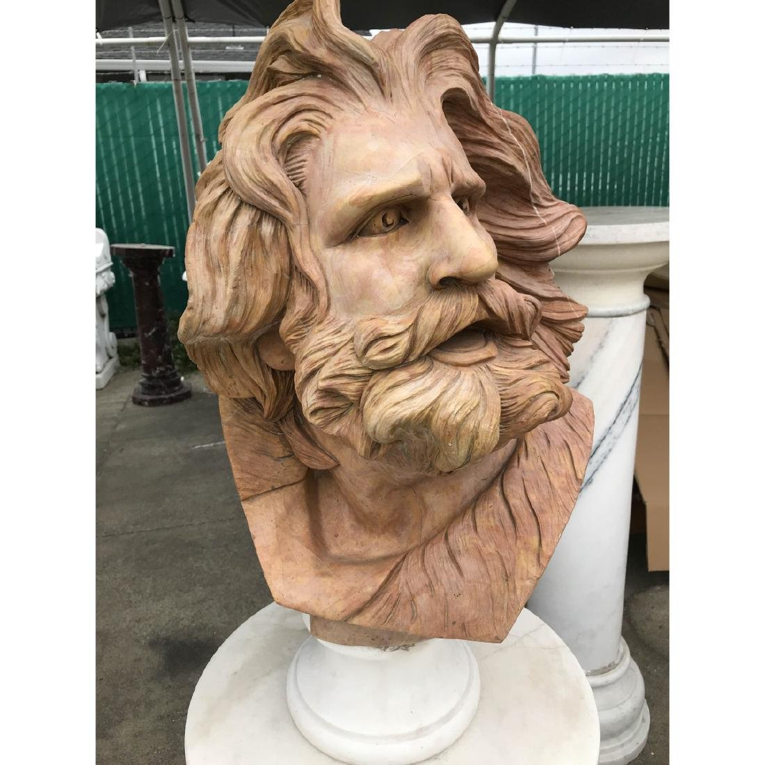 Marble Bust of Man with Beard - 2