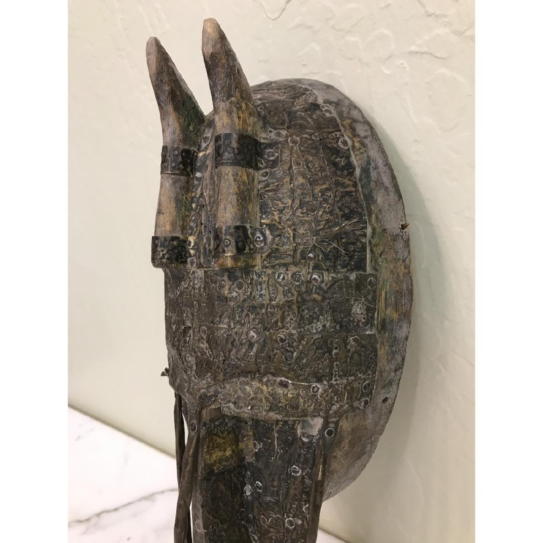 Unique Wood and Copper African Mask - 2
