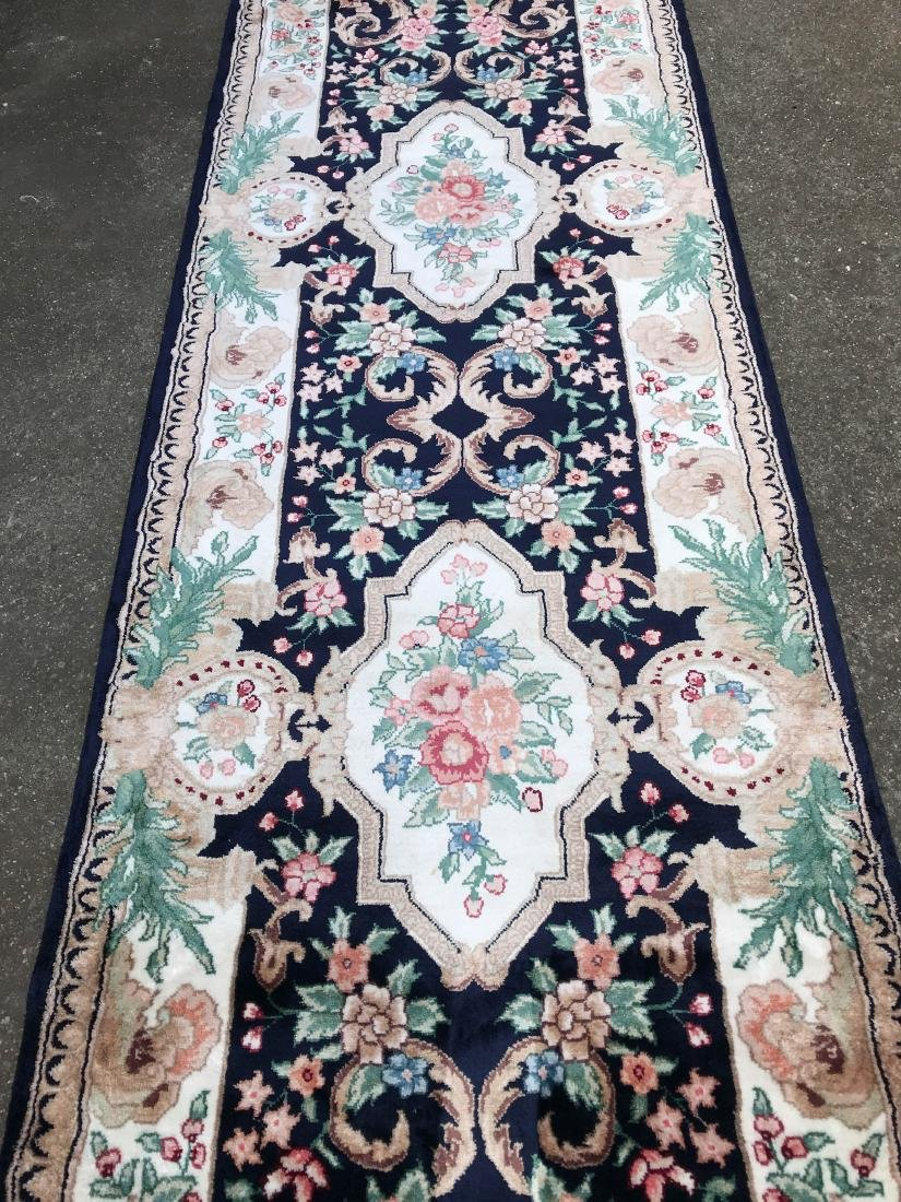 Silk and Wool Area Runner Rug - 2