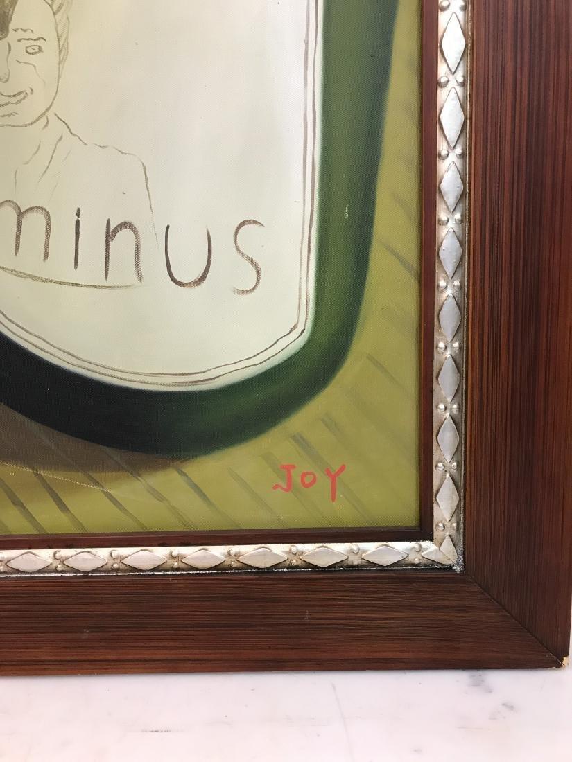 Oil on Canvas of Wine Bottle, Glasses - 4