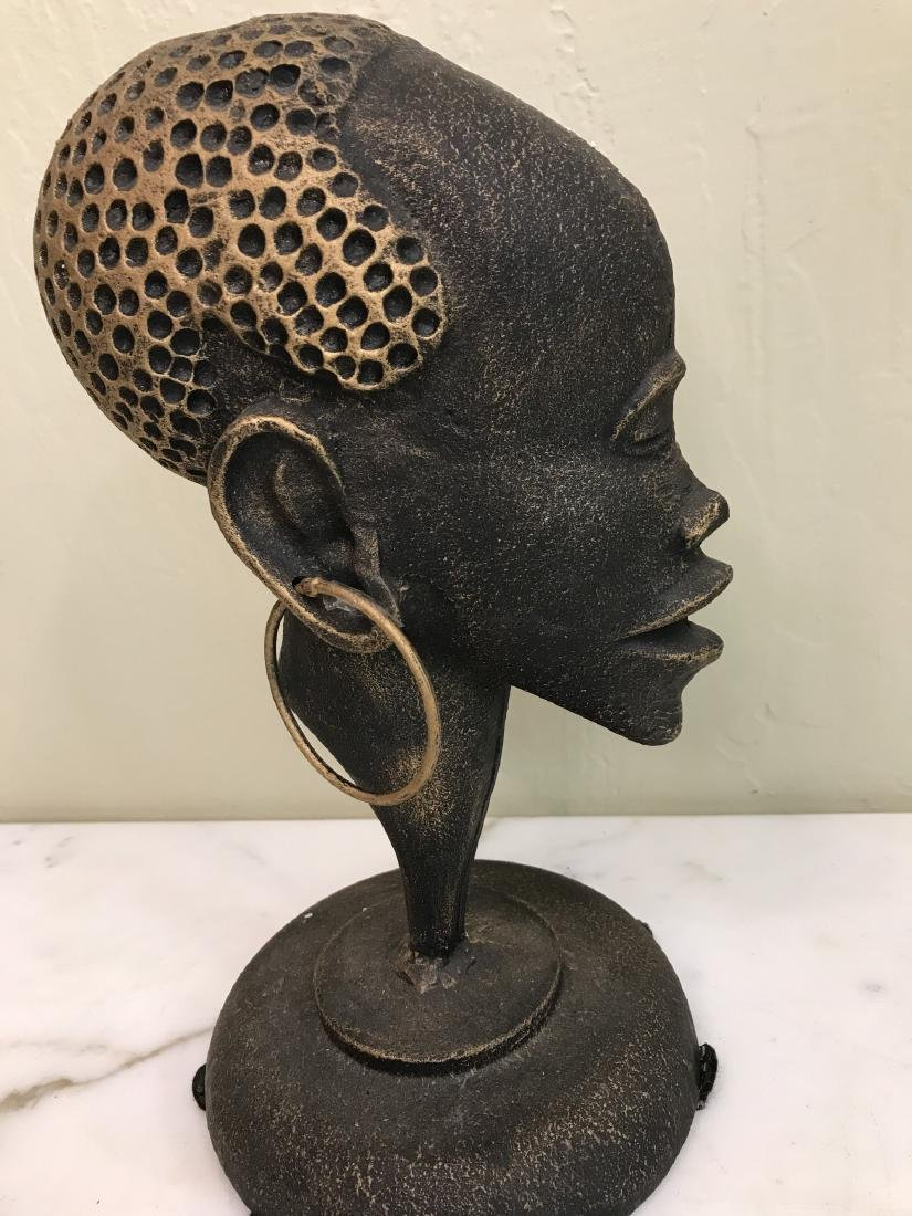 Bronze African Statue of Woman's Head
