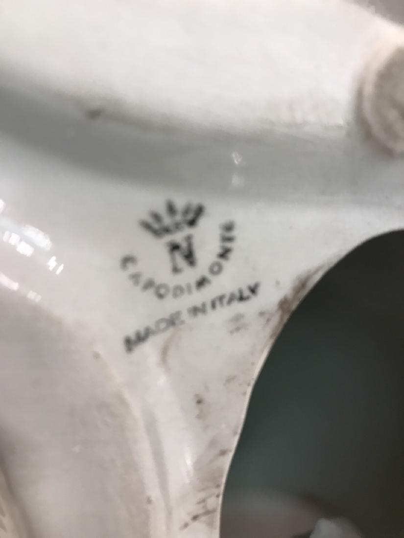 Capodimonte Porcelain Husky Statue - 7