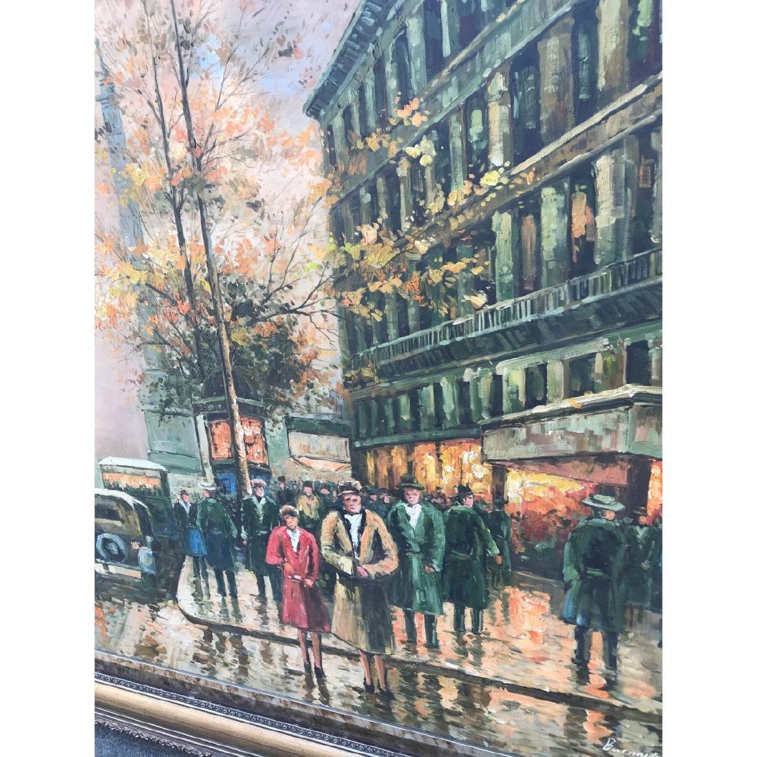 Large Oil on Canvas of European Street Scene - 6