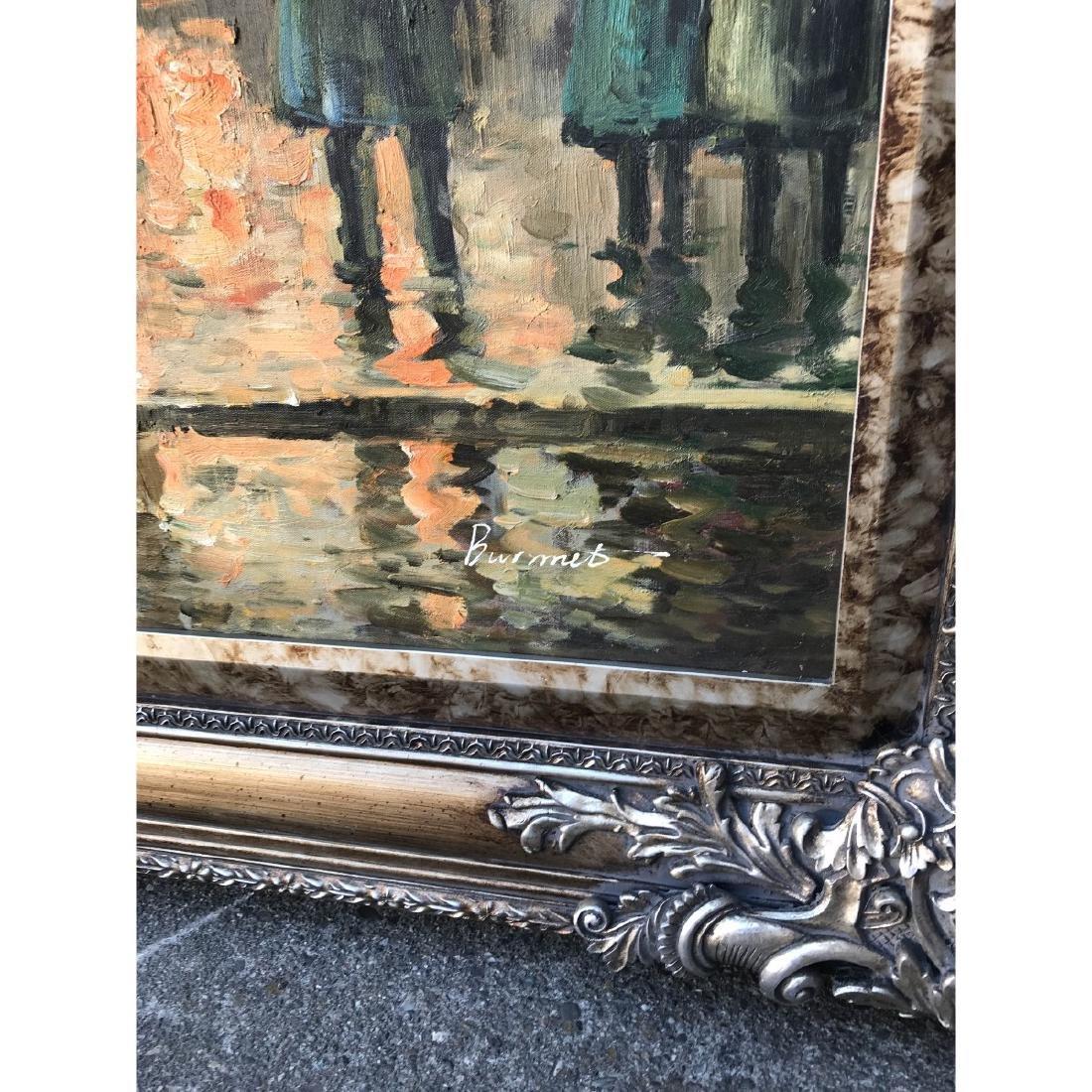 Large Oil on Canvas of European Street Scene - 9