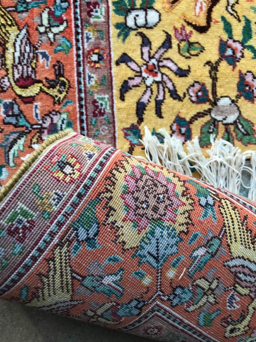 Hand-Woven Wool Area Rug w/ Hunting Scene - 8