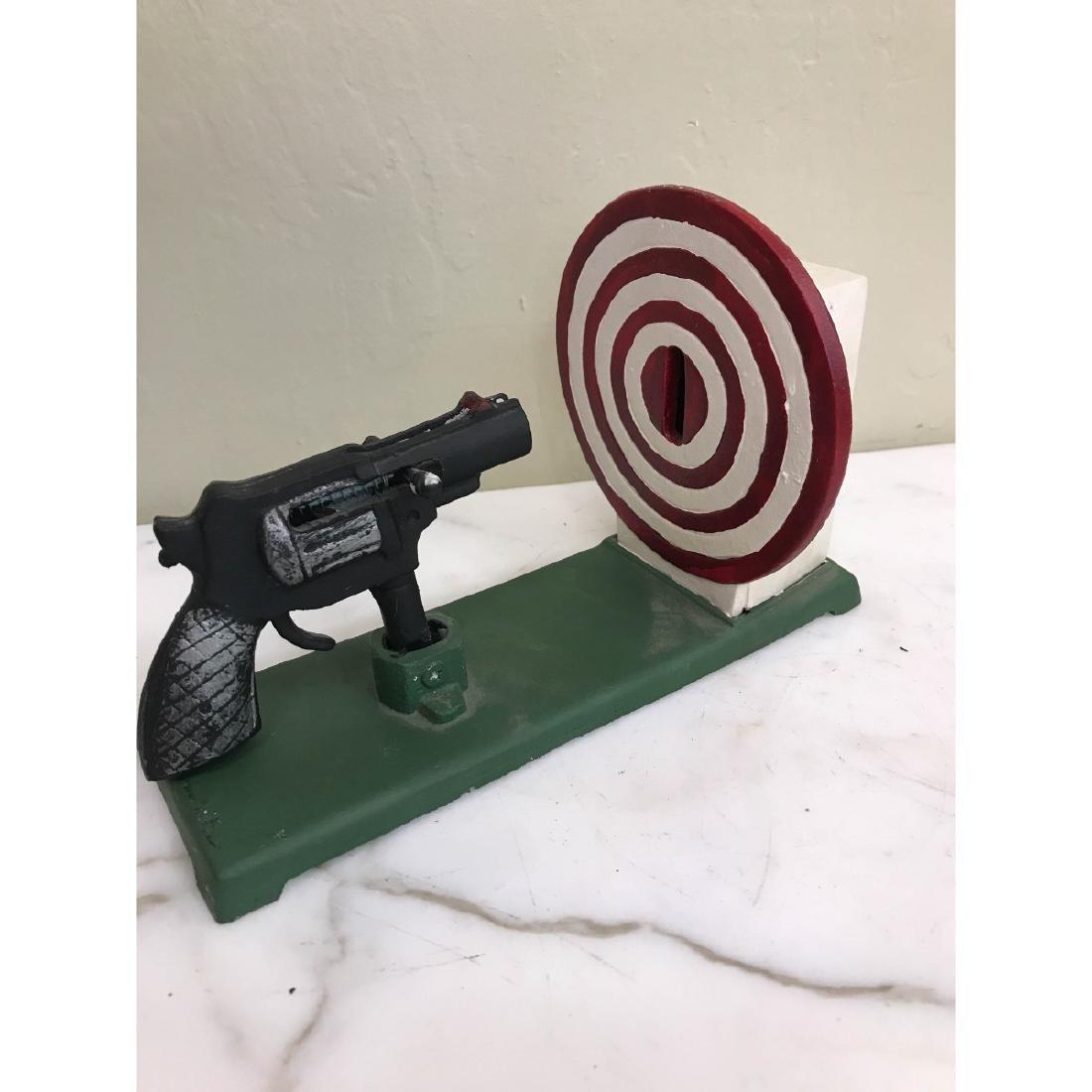 Gun and Target Mechanical Bank
