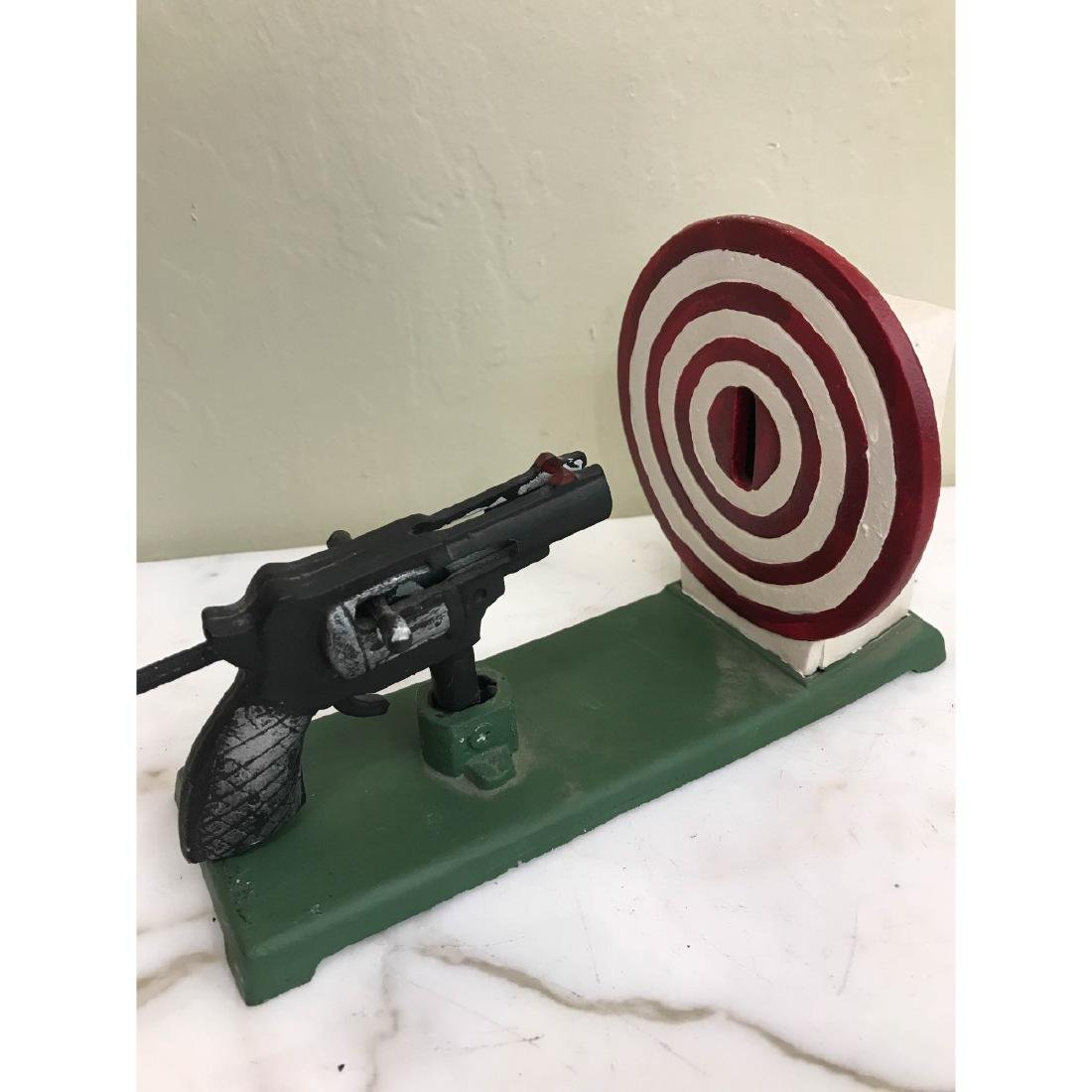 Gun and Target Mechanical Bank - 2