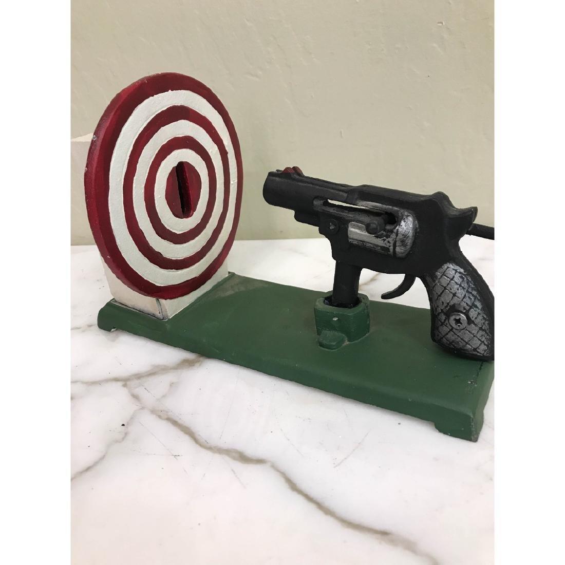 Gun and Target Mechanical Bank - 3