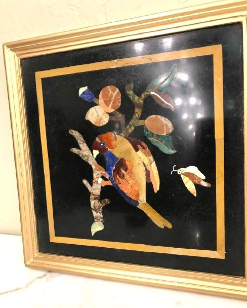 Pietra Dura Mosaic Art w/ Bird of Branch