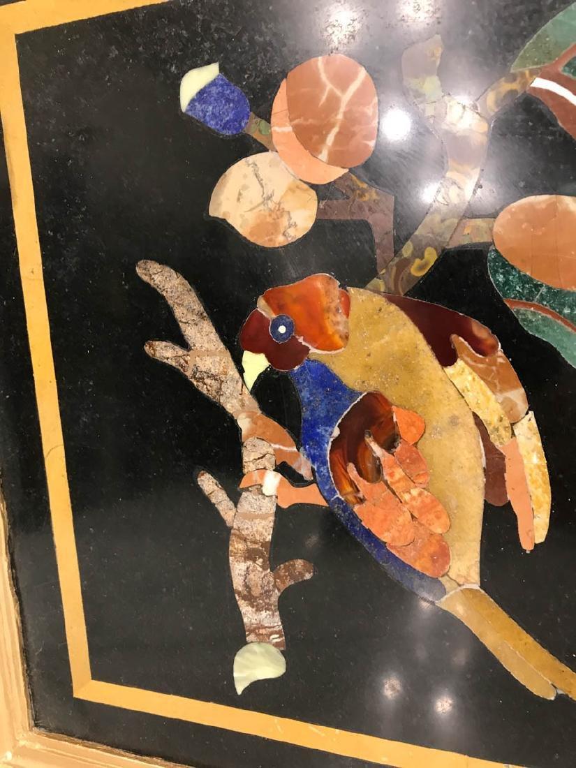 Pietra Dura Mosaic Art w/ Bird of Branch - 2