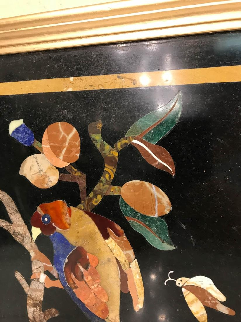 Pietra Dura Mosaic Art w/ Bird of Branch - 3