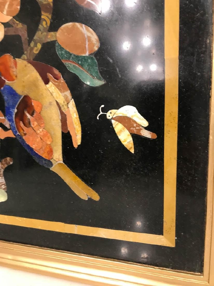 Pietra Dura Mosaic Art w/ Bird of Branch - 4